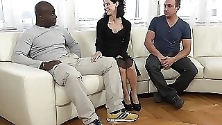Cuckold Training Wife fucks black man in front of husband