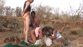 Casual safari trip turns to amazing outdoor orgy
