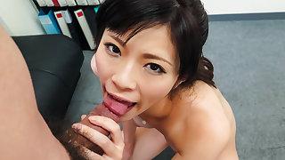 Sara Yurikawa, amateur girl, goes nasty on a fat dong