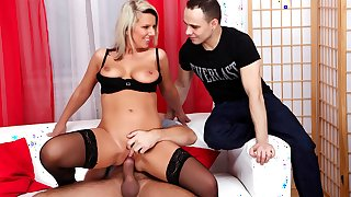 Lucy Angel Husband intimidated by huge cock in his wife