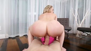 Yoga lesson ends with reverse cock riding for Mia Malkova