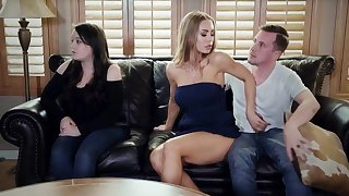 Nicole Aniston rides cock of her daughter's boyfriend