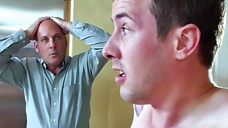 Step mom deals young cock before hubby comes home