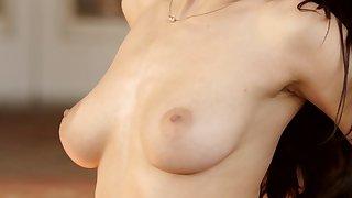 Amazing nude posing along brunette Lana Rhoades
