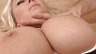 Playing with Big Cougar Tits