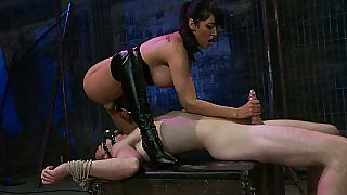 Erotic partners in extreme sexual positions