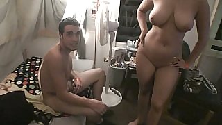 College threesome ob camera