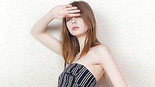 Skinny teen teasing