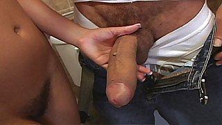 Kristina gets fucked right on top of a lavatory pan