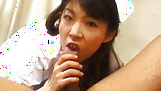 Japanese AV Model nurse has cunt licked, fingered and fucked Video 3