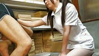 Hot nurse provides handjob