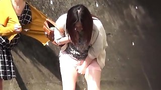 Kinky asian pees herself