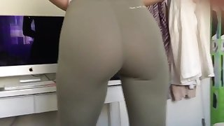 Cameltoe and butt teaser
