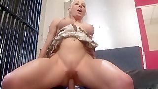 Horny pornstar in amazing piercing, blonde porn scene