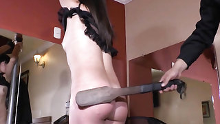 Bastinado feet whipping and tied spanking