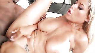Dark dick fucks the ass of Bridgette B
