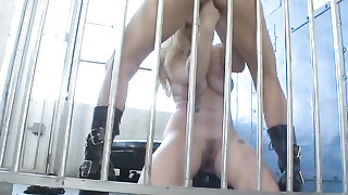 Lesbian cell mates eating pussy in prison