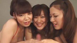 Fabulous Japanese girl Nana Aoyama, Nao Mizuki, Meisa Hanai in Amazing Handjobs, Bikini JAV clip
