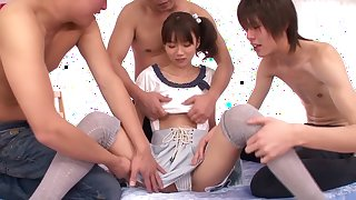 Amazing Japanese chick Asuka Hoshino in Hottest group sex, gangbang JAV movie