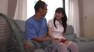 Exotic Japanese model Kami Kimura, Shiori Aramaki, Mitsu Tsumitsu in Amazing couple, college JAV clip
