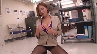 Amazing Japanese girl Ruri Saijou in Fabulous couple, secretary JAV clip
