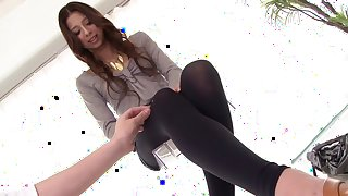 Best Japanese model Karina Mikani in Hottest foot fetish, couple JAV movie