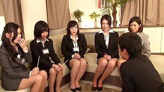 Fabulous Japanese whore Chisato Ayukawa, Uta Kohaku, Ria Natsuki, Amateur in Incredible softcore, group sex JAV video