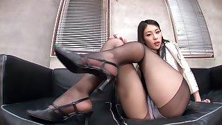 Incredible Japanese chick Kanon Takigawa in Fabulous foot job, foot fetish JAV movie