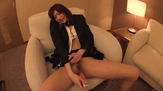 Ichika Kanhata in Stewardess Nakadashi Convulsive Fucking part 1