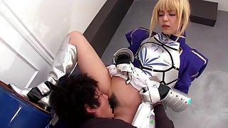 Hottest Japanese chick in Amazing JAV censored Blonde, Handjobs scene