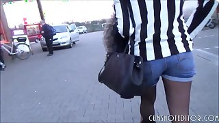 Cute German Teen Amateur Spermwalk