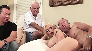 Busty housewife assfucked in cuckold action