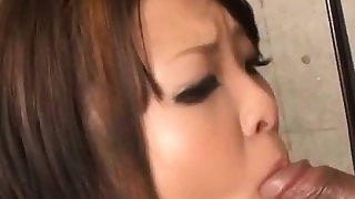 Reina Mizuki finger fucked and made to suck a big dick