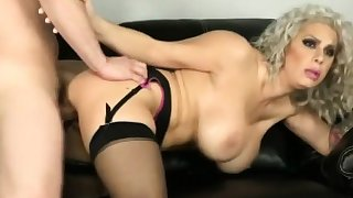 Mature Milf With Big Boobs Playing With Artificial Dick