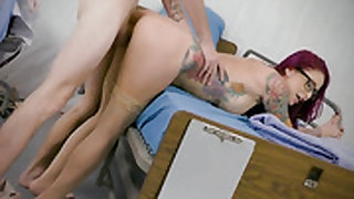 Redhead Monique Alexander with big hooters is so wet and so