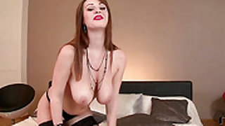 LaTaya Roxx touches her hole playfully
