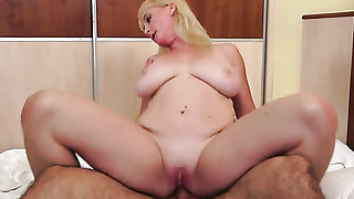 Milf with huge knockers gets her dripping
