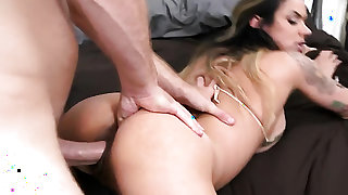 Levi Cash inserts his meat stick