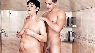 Mature is horny as hell and fucks