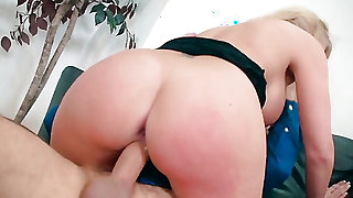 Keiran Lee uses his thick ram rod to bring blowjob addict Blonde