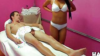 Piercings oriental Jayden Lee feels intense sexual while giving handjob